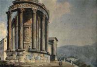 il tempio di miverva a tivoli by pietro labruzzi
