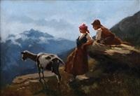 figure e armenti in alta montagna by carlo paolo agazzi