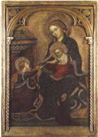 mariage mystique de sainte catherine et une donatrice by jacobello del fiore