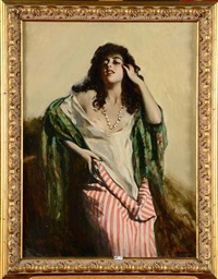 femme arabe by george owen wynne apperley