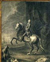king george iii when prince of wales, on rearing horse by the seashore by joseph antoine adolphe