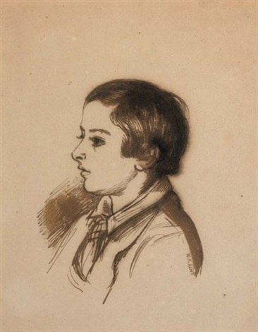 portrait of arthur henry giles aged twelve by william holman hunt