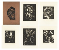 werden (portfolio of 5) by otto dix