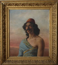 portrait d'homme by joseph-paul alizard