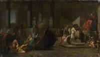 les athéniens et les athéniennes tirant au sort pour être livrés au minotaure by jean françois pierre peyron