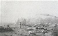 sheep and shepherd by h. irving marlatt