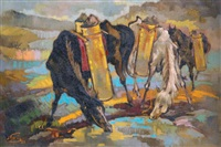 dua kuda (two horses) by liem tjoe ing
