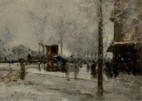 paris sous la neige by norbert goeneutte
