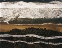 wave, lave, lace, pescadero beach, california (+ triangle, bermuda, 1975; 2 works) by john pfahl