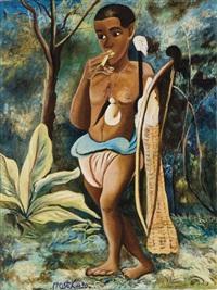 pygmée et son arc by moseka yogo ambake
