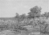 marsh scene by peter edward rudell