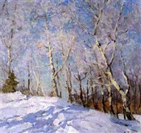 la gelée blanche by aleksandr andreievich gusarevich