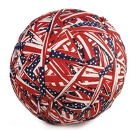 who's afraid of red, white and blue? flag ball no.2 by donald lipski