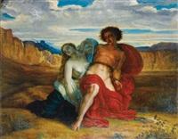 le supplice de mézence by louis a. f. (jean-louis) janmot