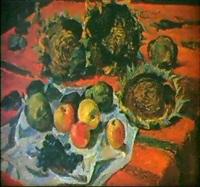 nature morte aux pommes by nikolai ieremeev