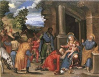 the adoration of the magi by battista (de luteri) dossi