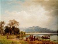 a mountain lake, south germany by eduard caspar post