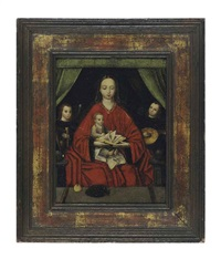 the virgin and child with music-making angels by marcellus coffermans