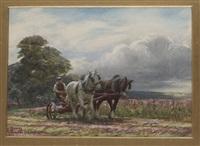 mowing (+ skördemotiv; pair) by george hamilton constantine