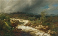 the rushing river by hermann herzog