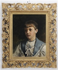 portrait of a young boy in a sailor suit by rosina emmet sherwood