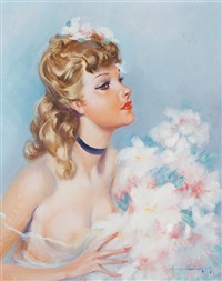 young girl by eugene lelievre