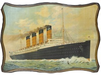 """s.s. luisitania,"" cunard line, new york - liverpool by fred pansing"