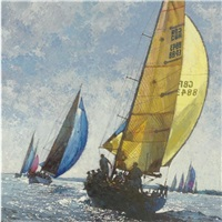 making the line, cowes week by michael vaughan