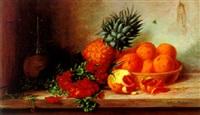 stilleben mit goldlack und südfrüchten by alfrida baadsgaard