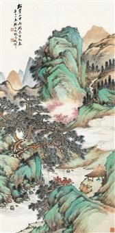 翠山云涧图 (landscape) by xu xiaocun