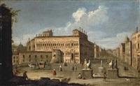 the piazza quirinale, rome by francesco tironi