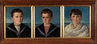 retratos infantiles (3 works) by jose maria togores