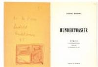ecrits d'hundertwasser (bk w/1 work) by pierre restany