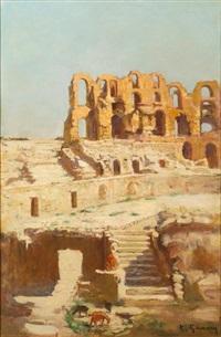 l'amphithéâtre d'el djem by adolphe ernest gumery