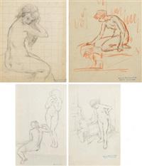 nus féminin (12 works) by lucien boulier