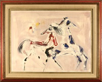 dancing horses by polia pillin