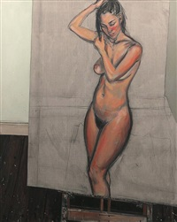 large studio nude by lewis miller
