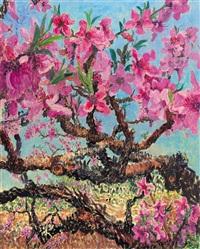 peach blossom in spring essence by zhou chunya