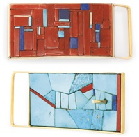 hopi gold belt buckle by charles loloma