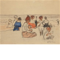 beach scene by edward henry potthast