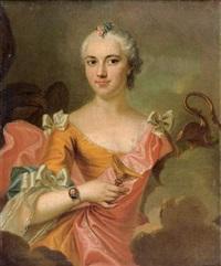 portrait de jeune femme en hébé by louis rené vialy