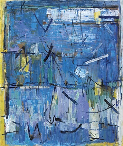 composition in blue by yvonne audette