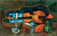 still life with a violin by jános györgi (georg johann) simon