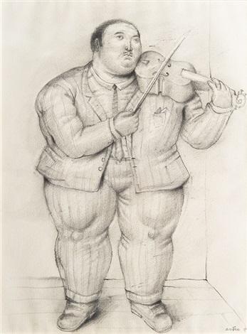 a violonist by fernando botero