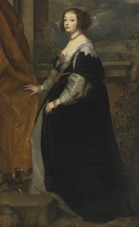 portrait of beatrice de cusance, princess of cantecroix and duchess of lorraine by sir anthony van dyck