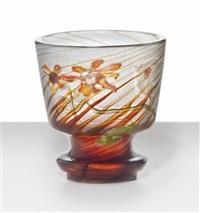 marqueterie-sur-verre goblet by émile gallé