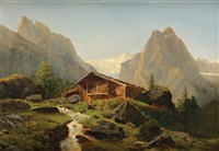 chalet en montagne by pierre alexandre jeanniot