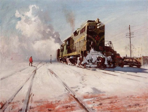 northbound freight manitoba canada by terence cuneo
