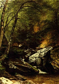 landscape with rocks and stream by asher brown durand