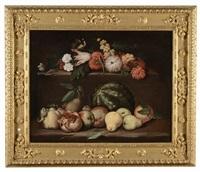 natura morta con frutta e fiori by italian school-roman (17)